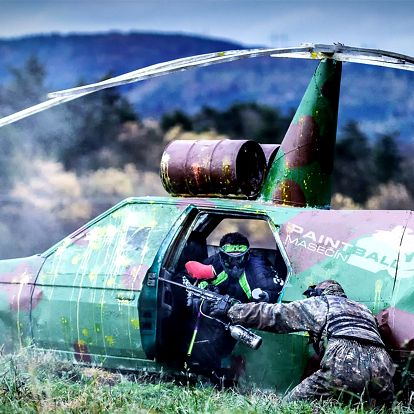4 hodiny paintballu + 100 ks munice a nápoj