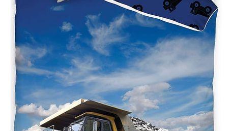 TipTrade Bavlněné povlečení Nákladní auto, 140 x 200 cm, 70 x 90 cm
