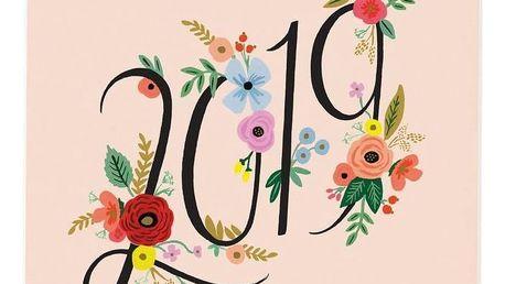Rifle Paper Co. Plánovací kalendář 2019 Bouquet, multi barva, papír