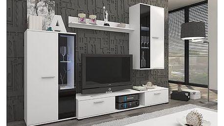Obývací stěna OSKAR 5 bílá Varianta LED osvětlení
