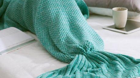 Pletená deka mořská panna