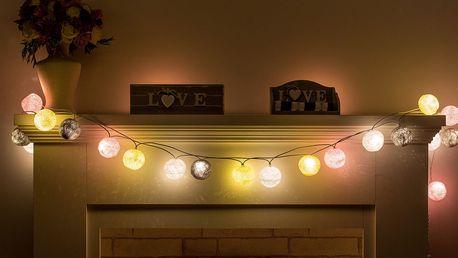 Ozdobná LED světýlka v různých barvách, poštovné v ceně