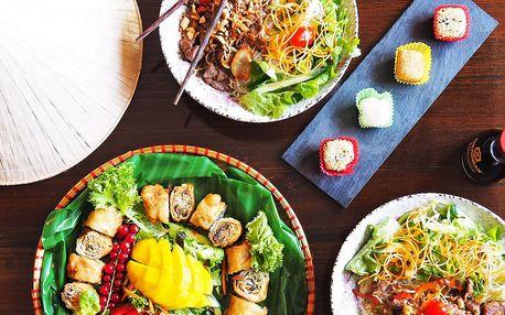 Vietnamské menu s Bún bò Nam Bộ pro 2 osoby