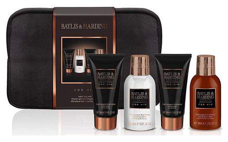 Baylis & Harding Pánská cestovní sada kosmetiky Signature for him, černá barva, hnědá barva