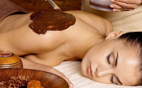 Luxusní čokoládová masáž včetně peelingu a zábalu