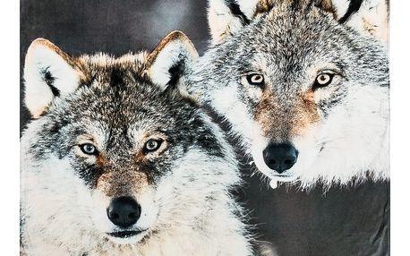 Koopman Deka Home & styling Wolves, 140 x 160 cm