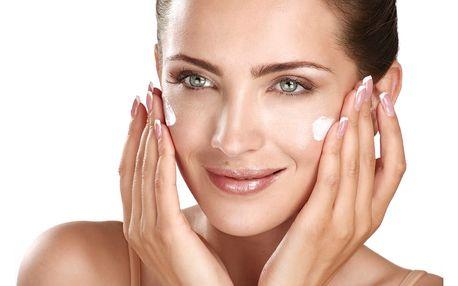 50min. ošetření pleti: čištění, maska, zábal, úprava obočí, depilace, líčení