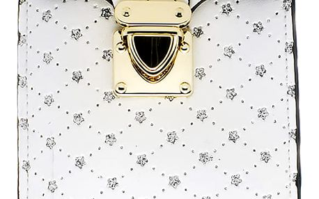 Kabelka třpytivá s prošívaným vzorem