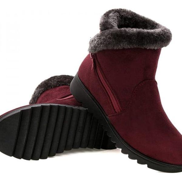 Dámské zimní boty se zipem - 3 barvy