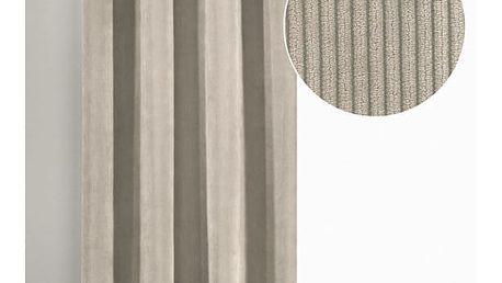 Albani závěs s kroužky Brit stříbrná, 135 x 245 cm