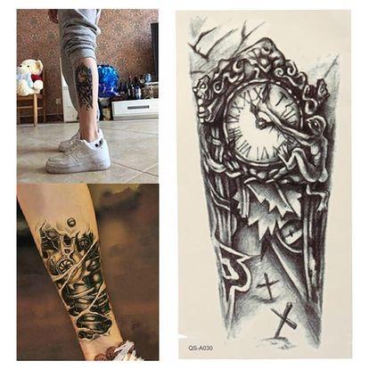 Dočasné tetování - retro hodiny - dodání do 2 dnů