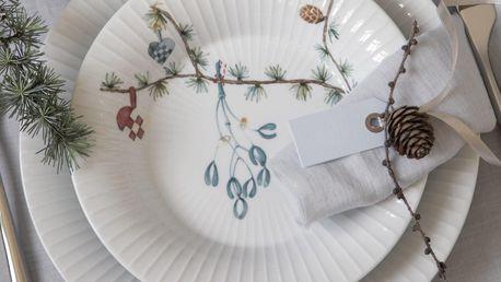 KÄHLER Hluboký talíř Hammershøi Christmas, bílá barva, multi barva, keramika
