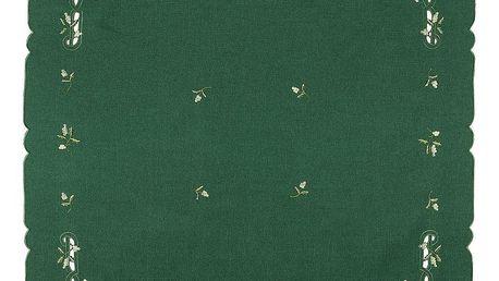 Forbyt Vánoční ubrus jmelí zelená,