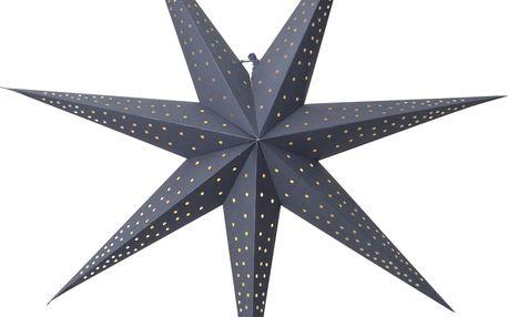 STAR TRADING Závěsná svítíci hvězda Point Blue 60 cm, modrá barva, plast, papír