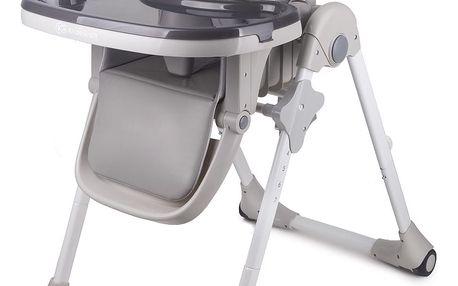 KINDERKRAFT Jídelní židlička Fini Yummy – Grey