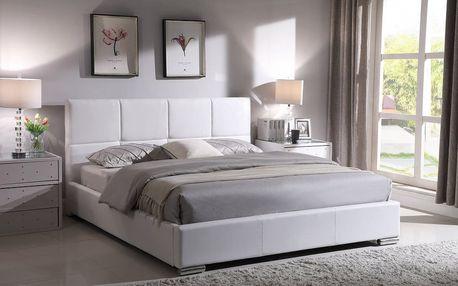 Postel Rebeca bílá 180x200 cm včetně roštu Hometrade
