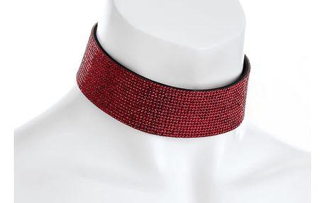 Červený choker náhrdelník Lydia 31459