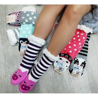 Veselé hřejivé ponožky Zvířátka