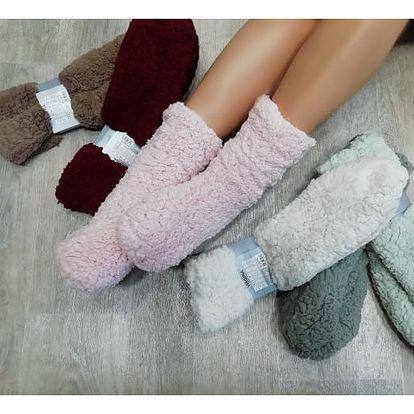 Hřejivé chlupaté ponožky Winter Time