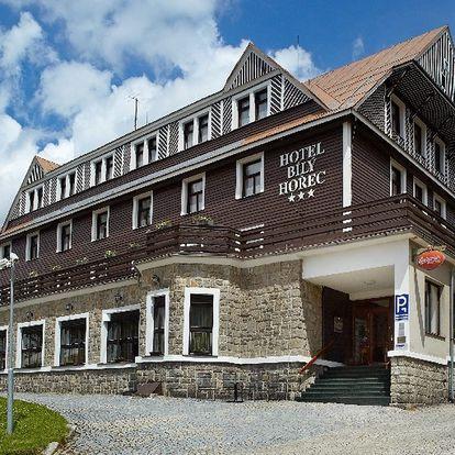Duben-září 2019 s polopenzí a wellness u lanovky na Čertovu horu v Hotelu Spa Bílý Hořec***