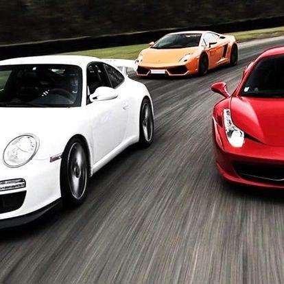 Prožeňte Ferrari, Porsche či Aston po okruhu