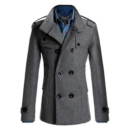 Elegantní pánský kabát Tobias - Šedá-XL - dodání do 2 dnů