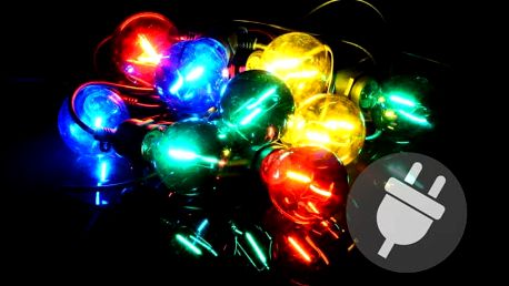 Garthen 40612 Zahradní párty osvětlení LED - skleněné žárovky - 5 m barevné