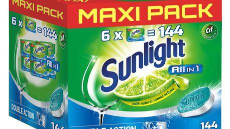 SUNLIGHT All in One Regular MAXI PACK 144ks – tablety do myčky
