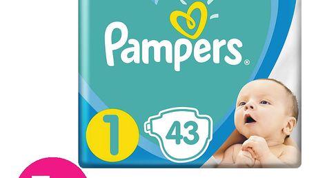 PAMPERS New Baby-Dry 1 (2-5kg) 215 ks MĚSÍČNÍ ZÁSOBA – jednorázové pleny