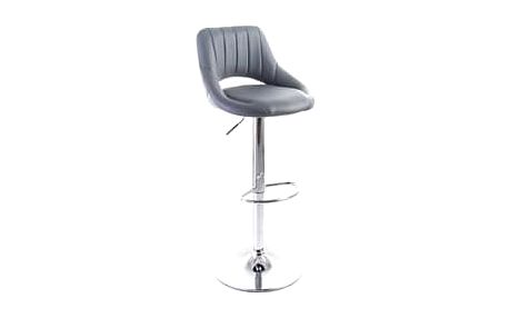 G21 Aletra Grey 51550 Barová židle koženková, prošívaná, šedá
