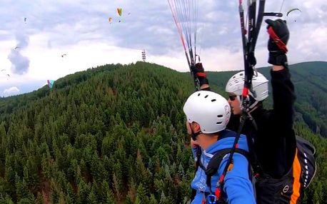 Tandemový let v Beskydech či na Slovensku