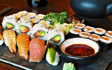 Sushi hody: 22 i 25 kousků rolek v centru Brna