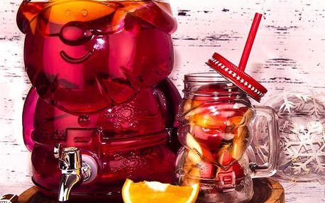 Skleněná láhev s kohoutkem SANTA 4L