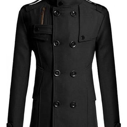 Elegantní pánský kabát Tobias - Černá-XL - dodání do 2 dnů