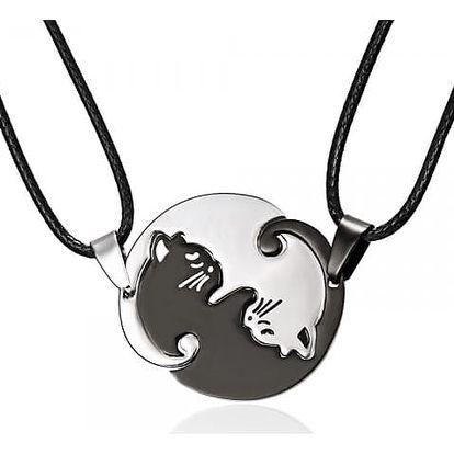 Dámský náhrdelník - kočičí jin jang