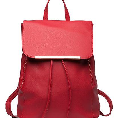 Dámský červený batoh Beate 1669