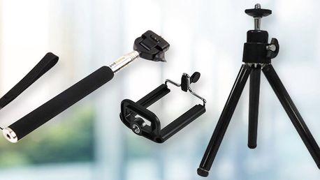 Selfie tyč, držák i stativ na mobil - parádní výbava