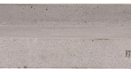 meraki Betonový tácek na kosmetiku Meraki 30x30 cm, šedá barva, beton