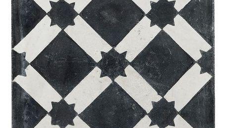 Tine K Home Cementová kachle Black Star, černá barva, bílá barva