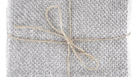 meraki Bavlněná osuška Meraki 70x140 cm, šedá barva, bílá barva, textil