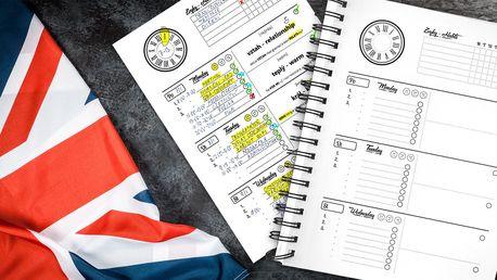Jazykový diář Mnemory: učte se anglicky každý den