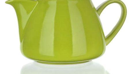 Banquet Bonnet 1,2l Konvička s nerezovým víčkem a sítkem Bonnet zelená OK 60GSSFYT138LG Objem (ml): 700, 300, 140 Počet ks v sadě: 3 Materiál: Keramika, Silikon Barva: Bílá, modrá