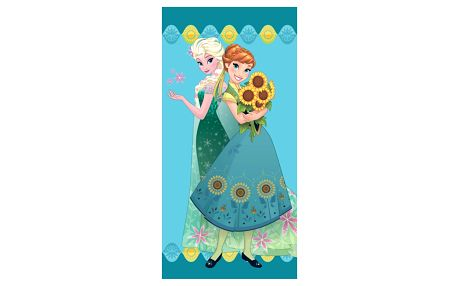 Jerry Fabrics Osuška Ledové království Frozen flower, 70 x 140 cm