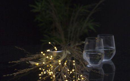 STAR TRADING LED drátek na solární napájení Dew Drops, bílá barva, plast