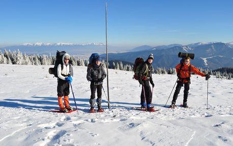 Velká Fatra na sněžnicích - 4 dny s ubytováním a průvodcem