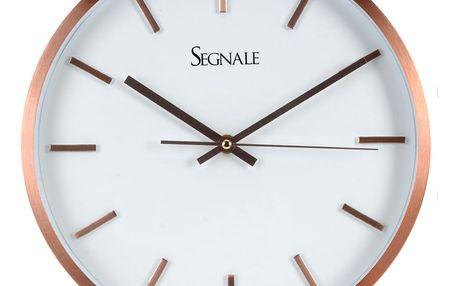 Kulaté nástěnné hodiny, SEGNALE, hliník, Ø 30 cm