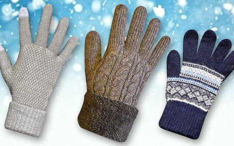 Dámské rukavice na displej i extra teplé pánské