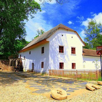 Ubytování v historickém funkčním mlýně na jižní Moravě s polopenzí