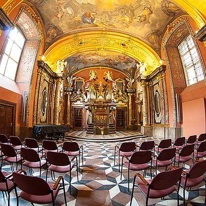 Lednové a únorové koncerty v Zrcadlové kapli Klementina. Vstupenka pro 2 osoby.
