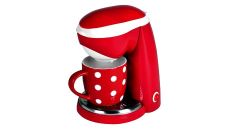 Kalorik CM 1015 RWD Kávovar s keramickým hrnkem Red Dots, 250 ml